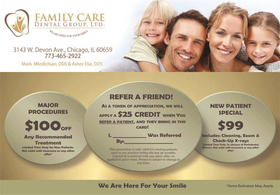 Family Care Denal Group Patient Referral Program
